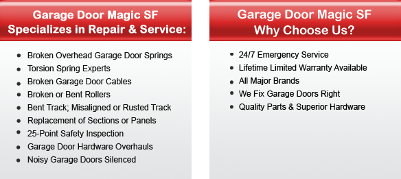 Garage Door Repair Hercules Offers